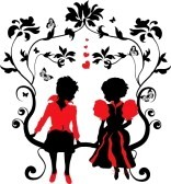 11568130-silhouette-little-girl-and-boy-with-hearts-illustration