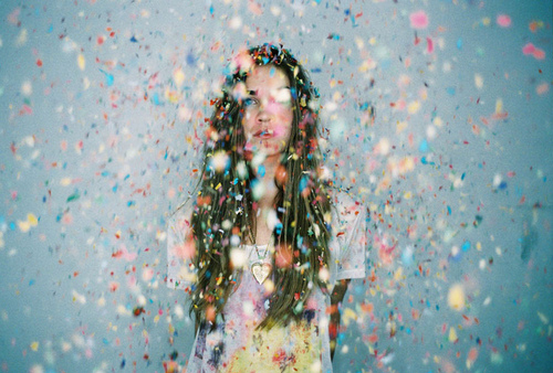 brunette-colorful-confetti-girl-rainbow-Favim.com-140713